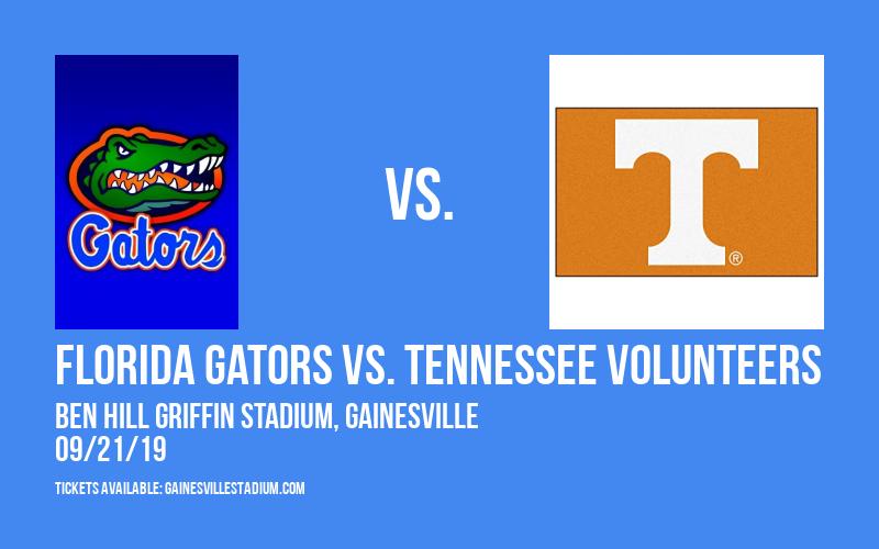 Florida Gators vs. Tennessee Volunteers at Ben Hill Griffin Stadium