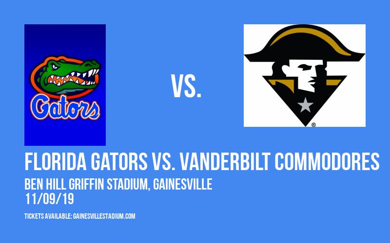 Florida Gators vs. Vanderbilt Commodores at Ben Hill Griffin Stadium